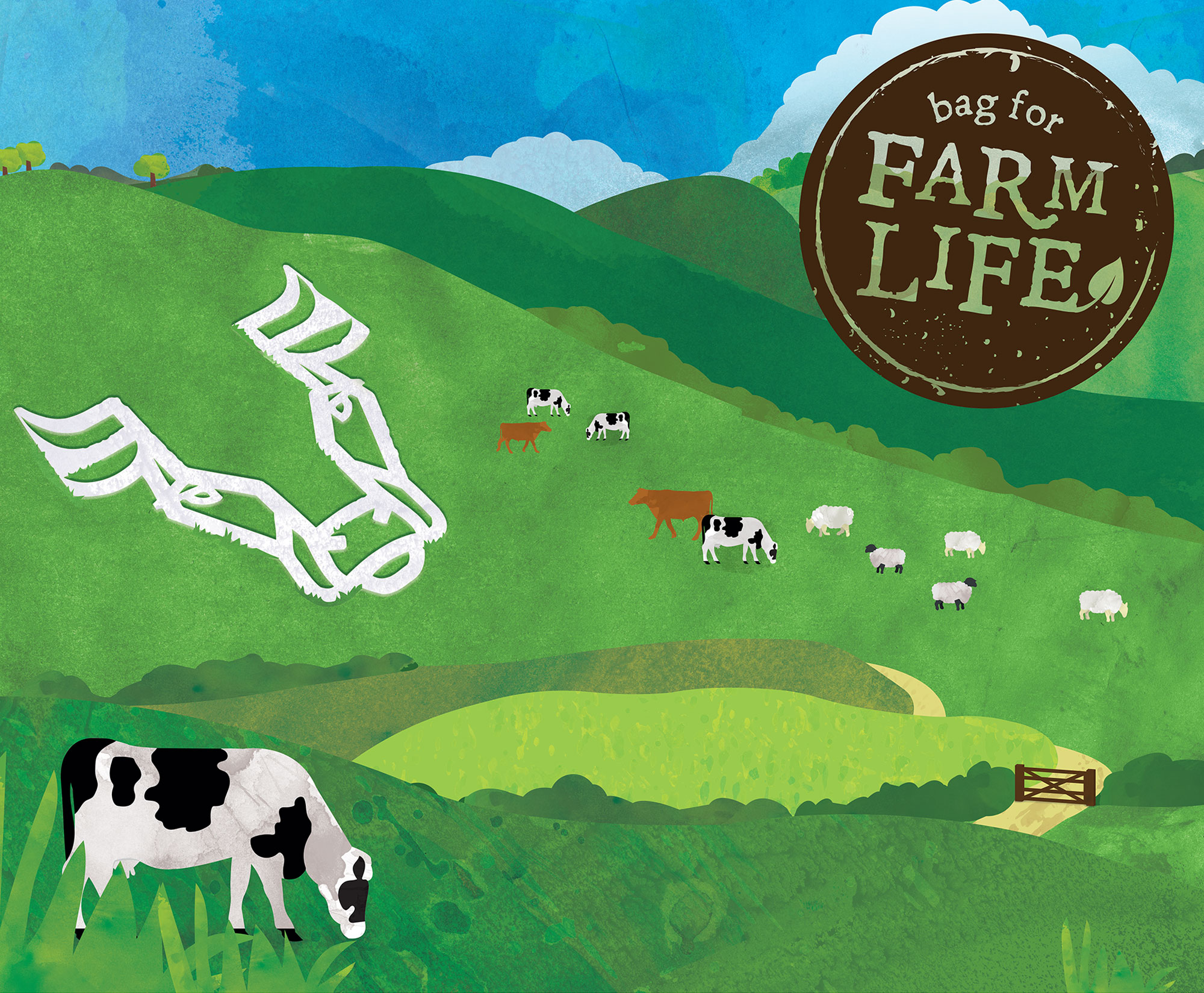 Illustration for Bag for Farm Life